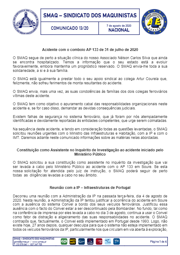 Comunicado 13/2020